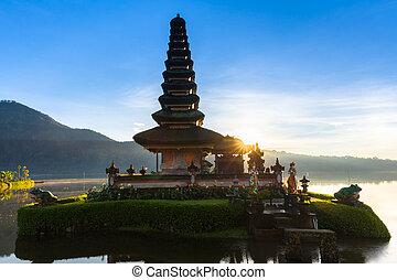 Pura Ulun Danu Bratan at sunrise, Bali, Indonesia - Pura...