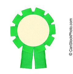 blanco, verde, premio, ganando, cinta, escarapela, aislado,...