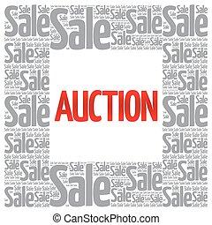 AUCTION words cloud, business concept background