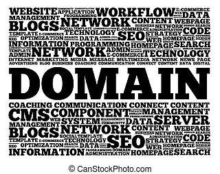 DOMAIN word cloud, business concept