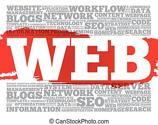 WEB word cloud, business concept