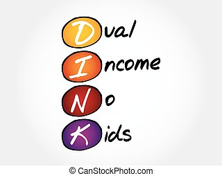 DINK - Dual Income No Kids, acronym concept
