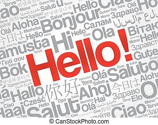 言語, 別, 単語, こんにちは