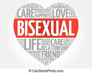 Bisexual concept heart word cloud