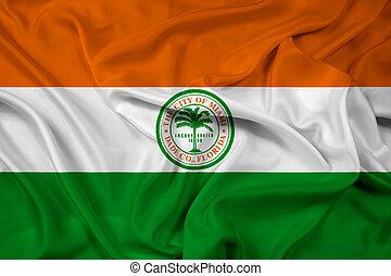 Waving Flag of Miami, Florida