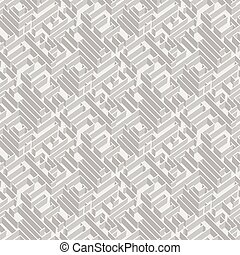 Labyrinth vector background, vector seamless pattern with 3d...