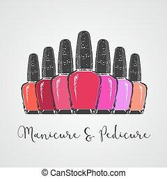 Nails vector logo. Sign, design element, illustration for...