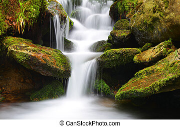 Waterfall on a mountain creek