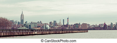 Manhattan Skyline from Hoboken - A view of the Manhattan...