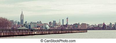 Manhattan Skyline from Hoboken - A view of the Manhattan...