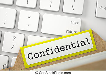 Index Card with Inscription Confidential - Confidential...