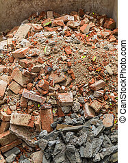 rubble lies in a container - rubble in a container....
