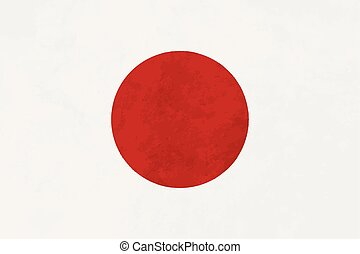 True proportions Japan flag with texture - True proportions...