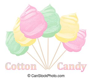 cotton candy advert - a vector illustration in eps 10 format...