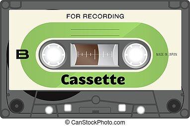Vintage audio cassette tape - Retro plastic audio cassette,...