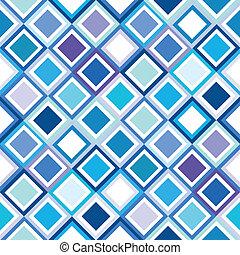 Geometrical pattern in blue tones