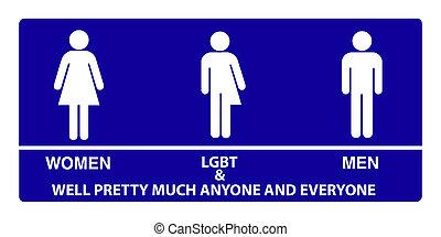Geschlecht, Neutral, badezimmer, zeichen,