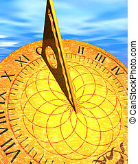 Close-Up - Golden sundial