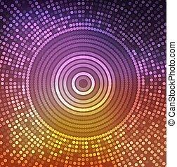 Shiny  round fantasy mosaic colorful background