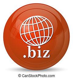 .biz icon. Internet button on white background.
