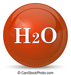 H2O icon Internet button on white background