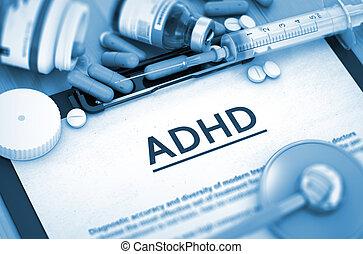 ADHD Diagnosis. Medical Concept. 3D.