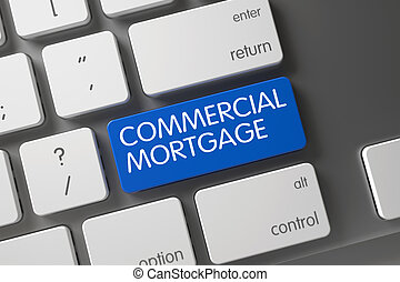 Keyboard with Blue Keypad - Commercial Mortgage. - Keyboard...