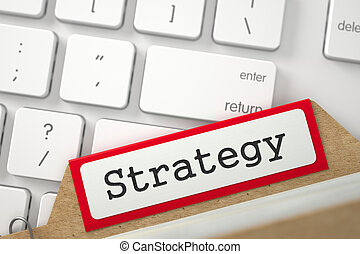 Card Index with Inscription Strategy. - Strategy written on...