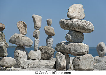 Lakeshore Inukshuk collection - a amateur creation.
