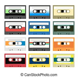 Vintage cassette tape collection - Collection of retro...