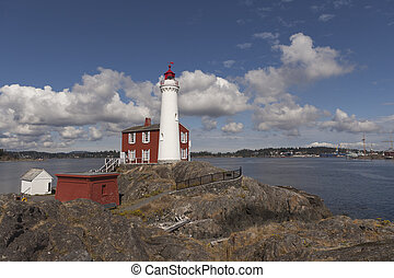 Fisgard lighthouse on Vancouver Island