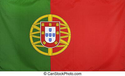 PORTUGAL, bandeira, real, tecido, seamless, fim, cima,