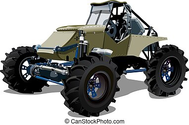 Vector Cartoon buggy. Available EPS-10 separated by groups...