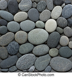 pebble - background of smooth gray pebble
