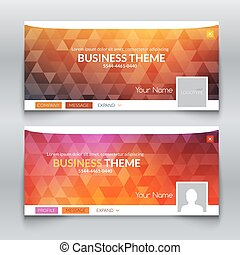 Web business site, Header Layout Template. Profile Creative cover.