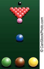 Snooker Starting Position Break Sho - Snooker starting...