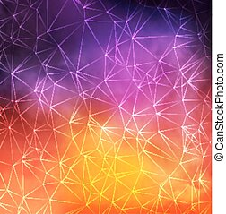 Abstract Vector Colorful Smoky Background with triangle...