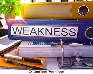 Weakness on Blue Office Folder Toned Image - Weakness - Blue...