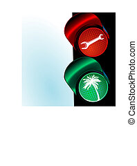 traffic lights to holiday
