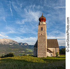 St. Nicholas Church in Mittelberg, Southern Tyrol, Italy