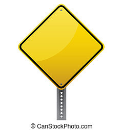 Blank glossy road sign on white background.Vector scalable...