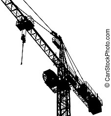 building crane - silhouette of building crane