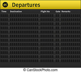 Airport timetable empty - An empty airport timetable Very...