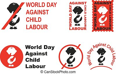 World day against child labour Illustration in vector format...