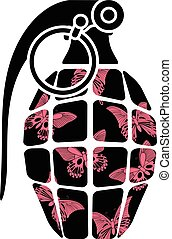 stencil of glamour grenade