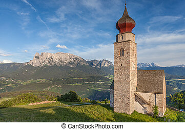 St Nicholas Church in Mittelberg, Southern Tyrol, Italy
