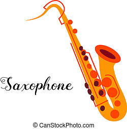 Saxophone musical instrument Illustration of a saxophone...