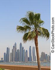 sight of Dubai from Palm Jumeirah