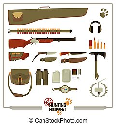 Hunting Equipment Set - Big set of equipment for the hunter...