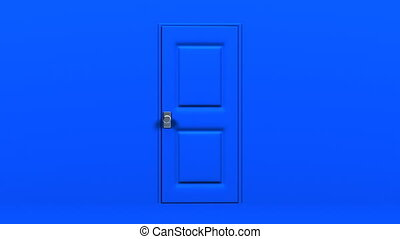 Blue Door And Wall.